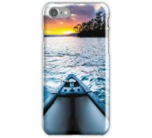 Canoeing in paradise iPhone Case/Skin