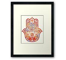 Watercolor  Hamsa Hand Framed Print