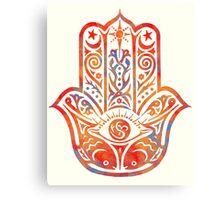 Watercolor  Hamsa Hand Canvas Print