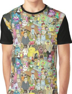 Zany Characters - Rick and Morty Graphic T-Shirt