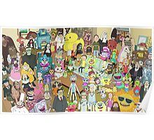 Zany Characters - Rick and Morty Poster