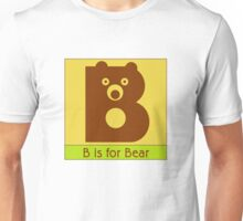 Bear Animal Alphabet Unisex T-Shirt