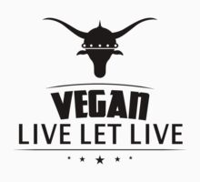 Vegan Live Let Live by T-ShirtsGifts