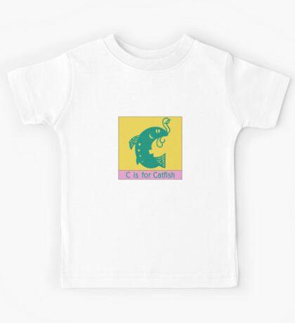 Catfish Animal Alphabet Kids Tee
