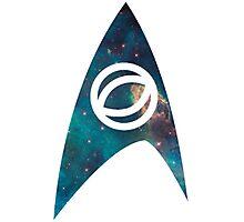 starfleet science insignia galaxy Photographic Print