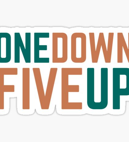 Motorcycle Cool Gear Change One Down Five Up Sticker