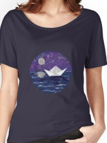 Paper Boat in the Water Women's Relaxed Fit T-Shirt