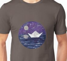 Paper Boat in the Water Unisex T-Shirt