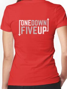 Motorcycle One Down Five Up Gear Shifter Women's Fitted V-Neck T-Shirt