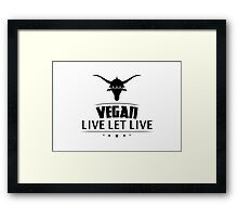 Vegan Vegetarian Framed Print