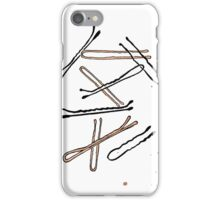 Bobby pins iPhone Case/Skin