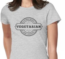 Vegetarian Womens Fitted T-Shirt