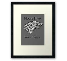 House Stark Direwolf Sigil Framed Print