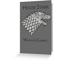 House Stark Direwolf Sigil Greeting Card