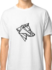 Geometric Wolf Outline Classic T-Shirt