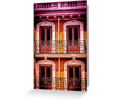 A Facade in Madrid Greeting Card
