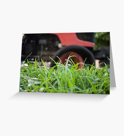 Big grass cutter Greeting Card