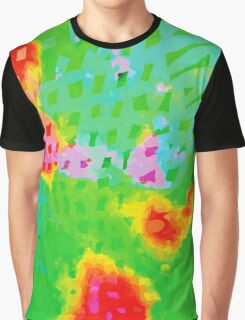 Colorful Abstract Watercolor Painting Background Graphic T-Shirt