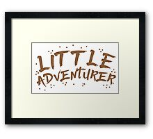 little adventurer Framed Print