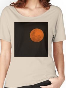 Full Moon - Black Night and Yellow Mystery  Women's Relaxed Fit T-Shirt