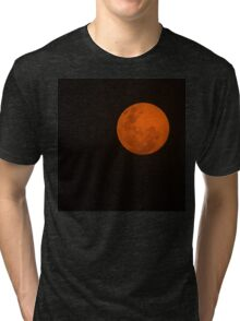 Full Moon - Black Night and Yellow Mystery  Tri-blend T-Shirt