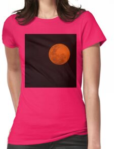 Full Moon - Black Night and Yellow Mystery  Womens Fitted T-Shirt