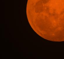 Full Moon - Black Night and Yellow Mystery  Sticker
