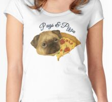 Pugs and Pizza Women's Fitted Scoop T-Shirt