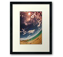 Rounded Coast Framed Print