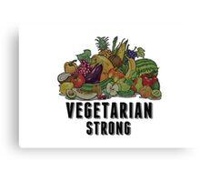 Vegetarian Strong Canvas Print