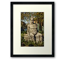 Sculpture close to the Nishi Building in Canberra/ACT/Australia (2) Framed Print