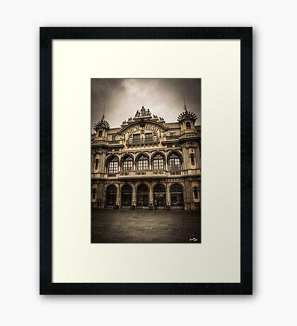 Port de Barcelona Framed Print