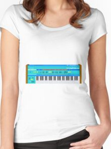 Synth-6 Women's Fitted Scoop T-Shirt