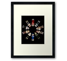 Sock Monkeys of the World Framed Print