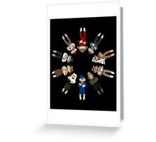 Sock Monkeys of the World Greeting Card