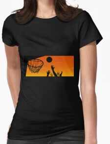 Above the Rim Womens Fitted T-Shirt