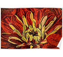 Vivid Evocative Floral Mosaic Poster