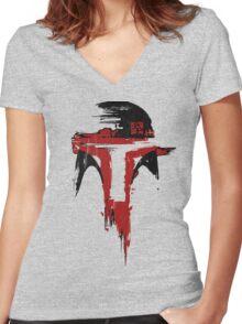Hunter- Minimalist Women's Fitted V-Neck T-Shirt