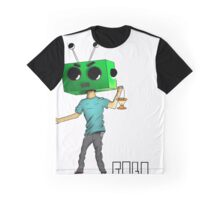 ROBOT with lantern white background Graphic T-Shirt