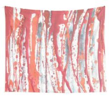 Red Rain Wall Tapestry