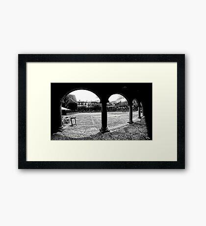 Poble Espanyol Framed Print