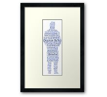 Doctor Who Word Cloud Framed Print