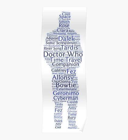Doctor Who Word Cloud Poster