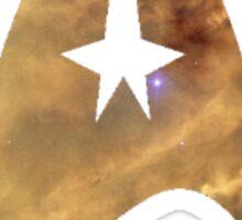 starfleet command insignia galaxy Sticker