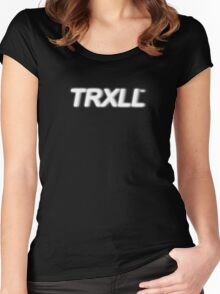 """""""TRXLL"""" Trill Graphic Design Women's Fitted Scoop T-Shirt"""