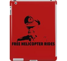 Free Helicopter Rides iPad Case/Skin