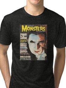Famous MONSTERS of Filmland Tri-blend T-Shirt