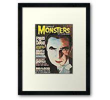 Famous MONSTERS of Filmland Framed Print