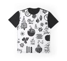 Christmas pattern - black & white Graphic T-Shirt
