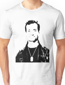 Bill Murray Stripes - Black and White Unisex T-Shirt